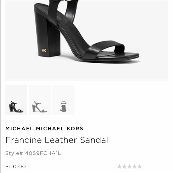 2ee5d4a8757d2 Michael Kors Shoes | Francine Leather Sandal Size 9 12 | Poshmark